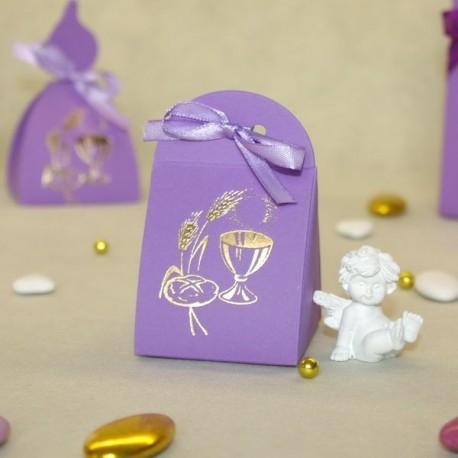 Pochette à dragées Calice lilas