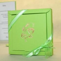 Grand contenant dragées Calice vert