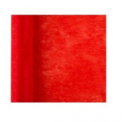 Chemin de table uni rouge