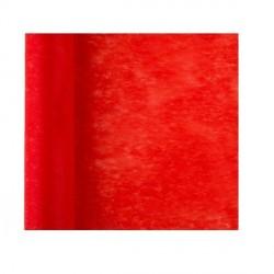 Chemin de table uni rouge