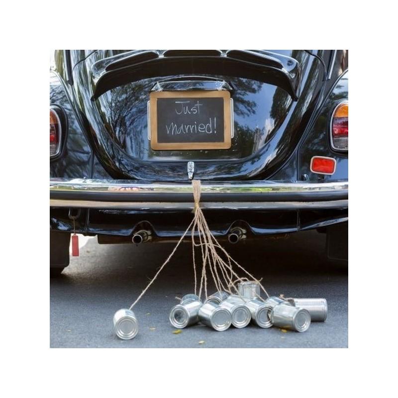 boite de conserve argent pour voiture de mariage drag es anahita. Black Bedroom Furniture Sets. Home Design Ideas