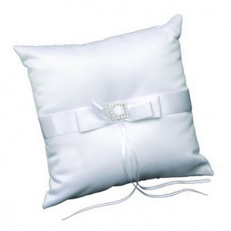 Coussin porte alliance strass blanc