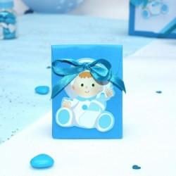 Pochon à dragées bébé bleu