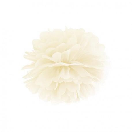 Pompon ivoire 25 cm