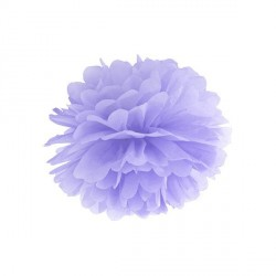 Pompon lilas 25 cm