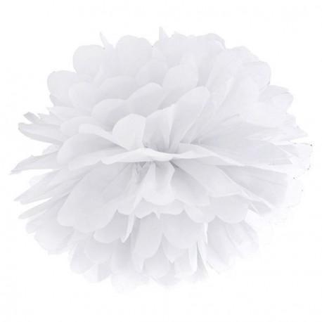 Pompon blanc 35 cm