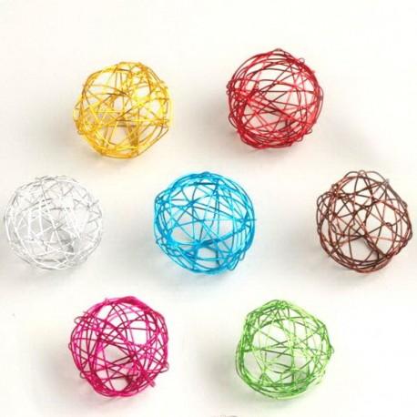 12 Boules de métal de couleur 3 cm