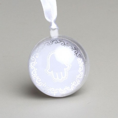 Boule à dragées Mariage Oriental Blanc