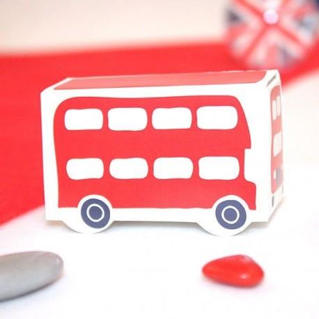 Boite à dragées Bus rouge de Londres