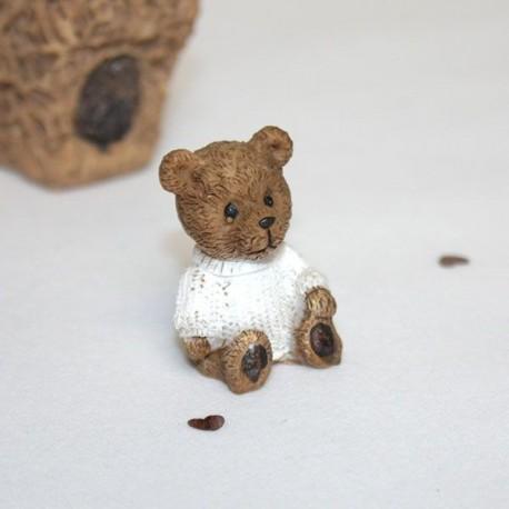 Ourson brun en céramique