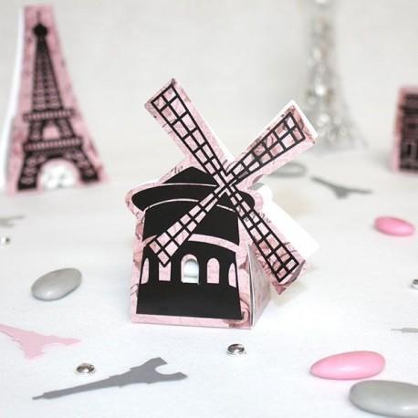 Contenant dragées Paris Moulin Rouge