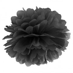 Pompon noir 35 cm