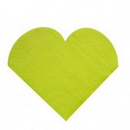 20 serviettes de table coeur