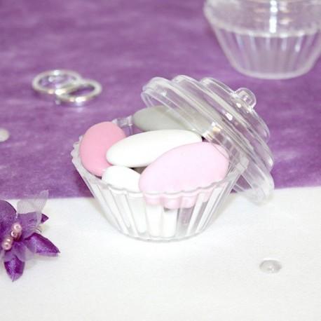 cupcake a dragées pléxi transparent