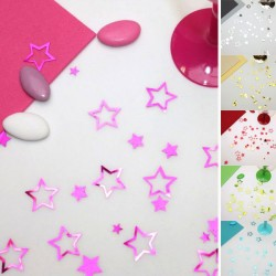 Confettis de table étoiles brillantes