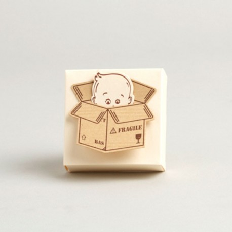 Emballages à dragées bébé colis fragile