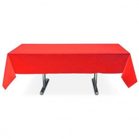 Nappe rouge rectangle pas cher intissé 3 m x 1.5 m