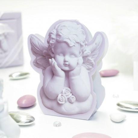 Contenant à dragées petit ange rêveur