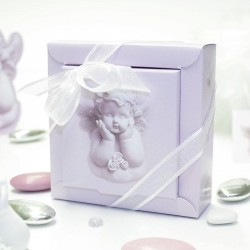 Boîte à dragées petit ange rêveur