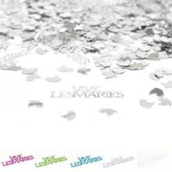 Confettis de table vive les mariés argent