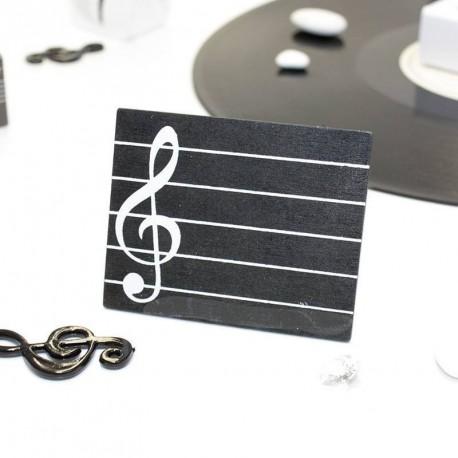 marque place musique noir marque place mariage. Black Bedroom Furniture Sets. Home Design Ideas