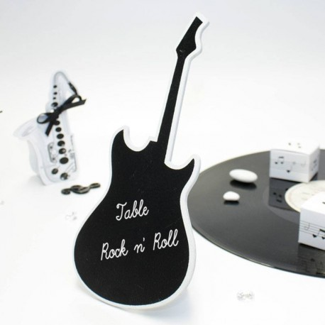 Centre de table guitare thème musique pas cher