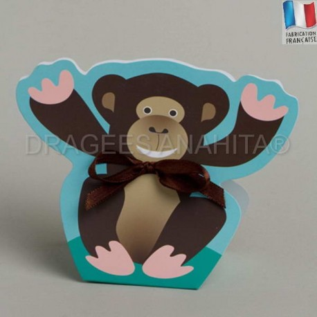 Ballotin à dragées en forme de singe
