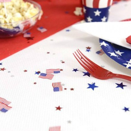 Confettis de table thème USA