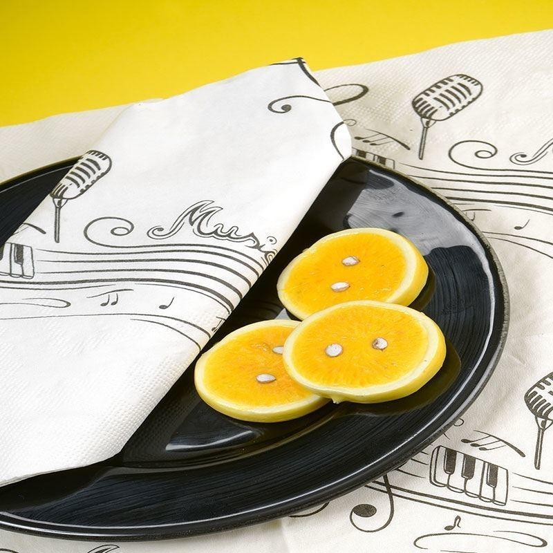 serviettes jetables papier pas cher th me musique drag es anahita. Black Bedroom Furniture Sets. Home Design Ideas