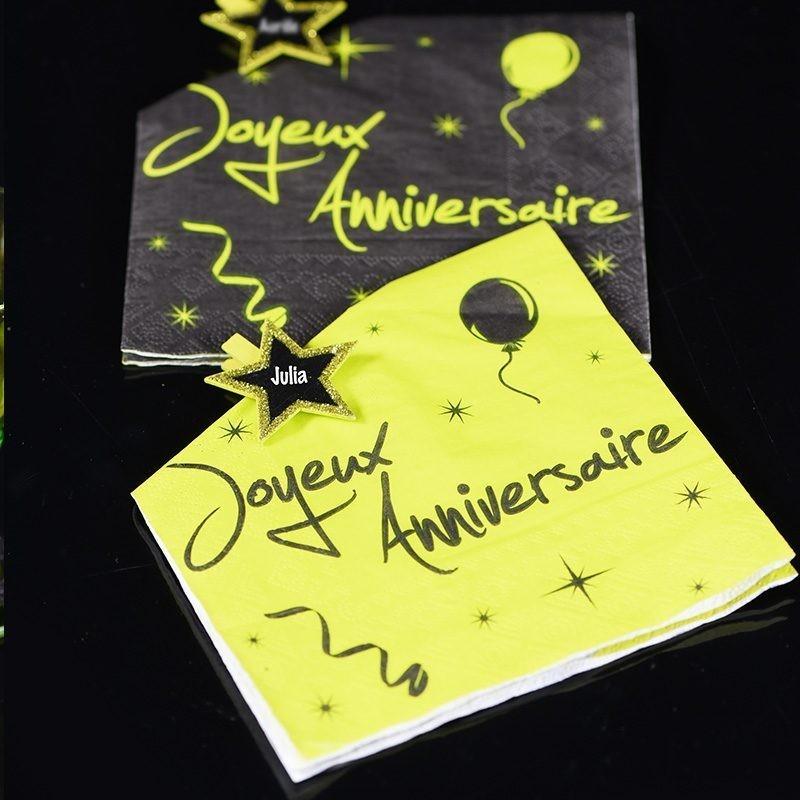 Serviette papier pas cher anniversaire vert drag es anahita - Serviette de table papier pas cher ...