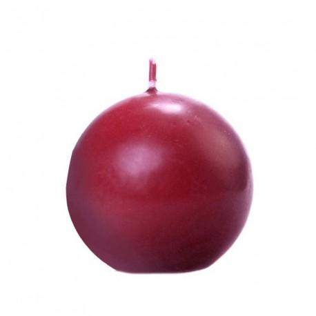 Bougie boule bordeaux 6cm
