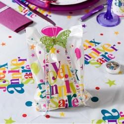10 sacs joyeux anniversaire multicolore