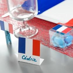 Marque place thème mariage France tricolore